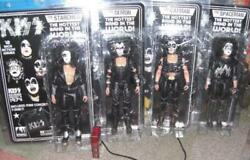 Kiss 12 Inch Action Figure Set Of 4 Figures Toy With Mini Concert T-shirt