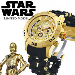 Star Wars Official Limited Watch C-3po Model World 1977 Pieces 100m Waterproof
