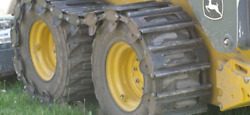 New Over The Tire Steel 10 Skid Steer Track For Bobcat, Case, Deere, And More