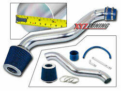 3 Blue Jdm Short Ram Air Intake Racing System + Filter For 98-02 Accord 2.3l L4