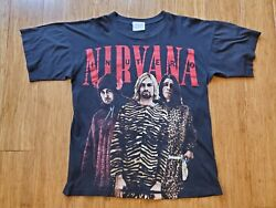 Vintage 90and039s Nirvana In Utero Bootleg T Shirt Size Large