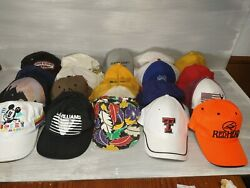 Resellers Lot Of 34 Assorted Vintage To Now Baseball Caps Cat, John Deere..more