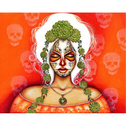 Second Hand Soul By Cat Ashworth Mexican Tattoo Colorful Canvas Fine Art Print