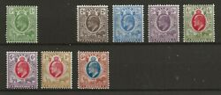 South Africa Orange River Colony1903/14 8 Values No 1d M/m Sg 139141/7 Candpound275