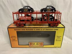 ✅mth Railking Southern Pacific Auto Carrier Vw Bugs 30-76244 Volkswagen Beetle