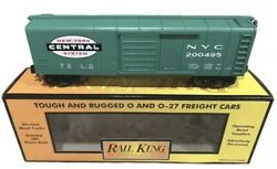 ✅mth Railking New York Central Rounded Roof 40' Box Car 30-7447 Nyc Penn O Gauge