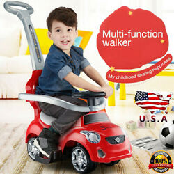 3 In 1 Ride On Push Car For Toddlers With Music,storytelling,knowledge Quiz Red