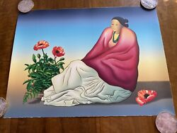 R.c. Gorman Taos Poppies On Sale Limited Edition Artwork, Signed And Numbered
