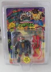 Tmnt Carded Unpunched Rare Vintage Mike As Frankenstein Playmates W/zolo Case
