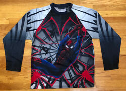 Vtg 2003 Marvel Spider Man Print All Over Long Sleeve Jersey L Columbia Pictures