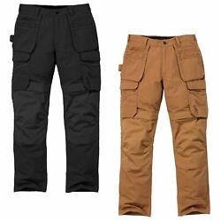 Menand039s Cargo Pants Steel Multipocket Trousers Work Multifunction New