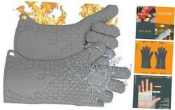 Ekogrips Premium Heat-resistant Bbq Gloves For Cooking One Size Fits Most Grey