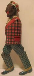 Old Wind Up Strauss Ham And Sam Tin Toy Part - Black Man - Needs Arms