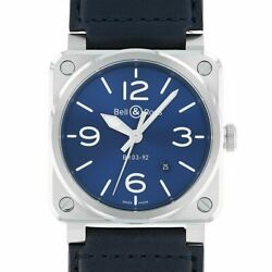Bell And Ross Instruments Br 03-92 Blue Steel Bell And Ross Br0392-blu-st/sca New