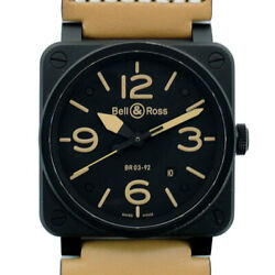 Bell And Ross Bell And Ross Br03-92 Heritage Menand039s Watch Br Black Boxed Warranty