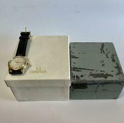 Omega Seamaster Automatic Cal.501 Wristwatch 35mm Gold Plated 1980's Vintage