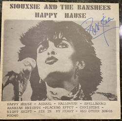 Raresiouxie Sue And Banshees Happy Hause Signed Vinyl Lp 1982 Live/placebo Bas