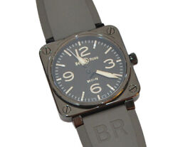 Bell And Ross Br01-92bc-al Ceramic Analog Black Wristwatch W/boxed Warranty Card