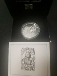 Silver Primoz Trubar Coin Issued By Ljubljanska Bank With Box And Coa