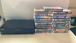 Vhs Player And 21 Classic Disney Movies