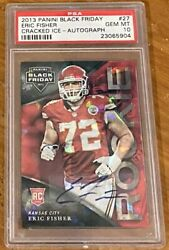2013 Black Friday Eric Fisher Cracked Ice Auto Psa 10 Rookie Autograph Pop 1/1