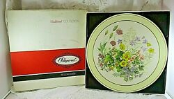 Vintage Pimpernel Traditional Collection Deluxe Meadow Flowers 6 Round Placemats