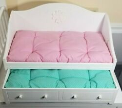 American Girl Doll Bitty Baby Day Bed And Trundle With Mattresses