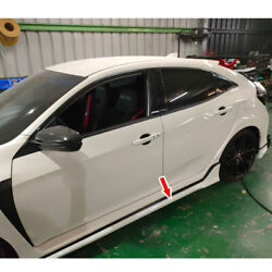 Fit For Honda Civic 10th Fk8 Model 5dr Side Skirts Body Kits 2020 Painted Color