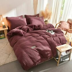 Home Textiles 4pcs Pillowcase Quilt Cover Winter Pillowcases Sheet Bed Covers