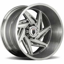 22x12 American Truxx At1906 Spiral 5x150 -44 Brushed Texture Wheels Rims Set4