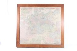 Old Map Germany Before 1945 Dr German Rich With Frame Wood