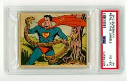 1940 Superman 4 Peril In The Jungle Gum Inc Psa 4 R145 1st Appearance Series