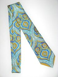 Emilio Pucci Firenze Neck Tie Abstract Print 100 Silk Made In Italy