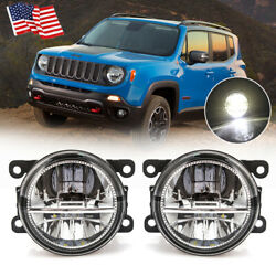 For Jeep Renegade 2015-2018 Clear Led Fog Light Driving Lamp Replacement Upgrade