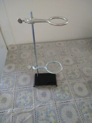 Chemistry Lab Laboratory Stand Iron Cast Scientific Support Stand With 2 Rings