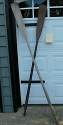 Vintage Weathered Wooden Oars Mismatched Pair 77 Perfect Decor