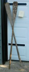 Vintage Weathered Wooden Oars Mismatched Pair 65 Perfect Decor