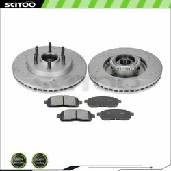Front Brake Pads And Rotors For 2004-2008 Ford F-150 4.2l 2004-2008 F-150 4.6l