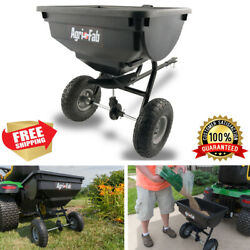 85 Lb Broadcast Tow Behind Spreader Fertilizer Grass Seed Hopper Lawn Tractor