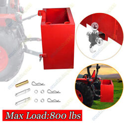 Ballast Box Mounted 3 Point Counterweight Quick Loader Tractor Hitch Attachment