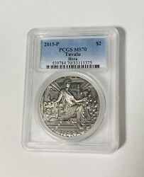 2015 Goddesses Of Olympus Hera 2oz Silver High Relief Coin Pcgs Ms70