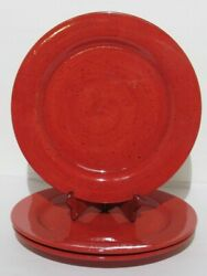 Pfaltzgraff Nuance Of Red 12 Plates / Chargers Set Of 3