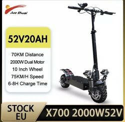 2000w Dual Motor Electric Scooter Adults 75km/h 52v 20ah Sale