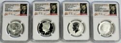 2014 Silver Kennedy 50c Anniversary High Relief 4 Coin Ngc 70 Early Releases Set