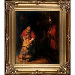 Return Of The Prodigal Son Framed Oil Reproduction Of An Original Painting