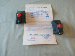 Lionel 260 Black Plastic Bumpers 2 With Iinstruction Sheet   Scarce