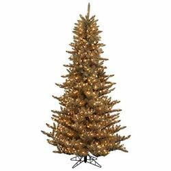 7.5and039 Antique Champagne Fir Artificial Christmas Tree Warm White K156376led