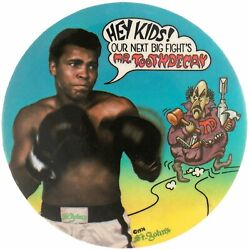 1974 Boxing Muhammad Ali St. Johnand039s Toothpaste Dental Advertising Button Pin