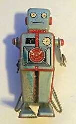 1950's Easel Back Robot Tin Wind Up Robot By Linemar Japan - Rare- Free Shipping