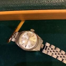 Rolex Wristwatch Women Oyster Date 6517 Silver Dial Automatic Silver Band W/box